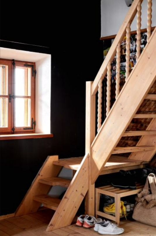 "This wooden staircase is from our feature ""Alpine Approach"""