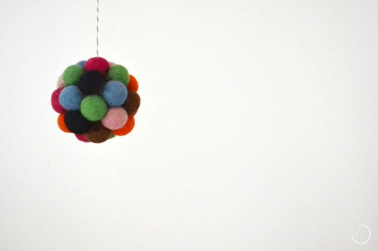 Joulupallo huopapalloista