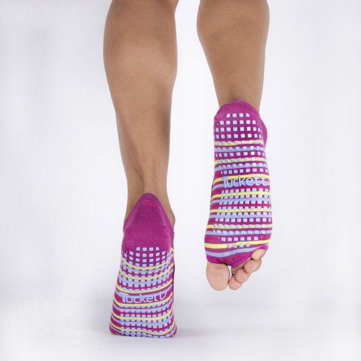Tucketts Grip Socks.  Barre Socks.  Workout socks for pilates and yoga.  Cute Grip Sock.  Barre Sock for the Barre Girl.  Great for Pure Barre, Barre3, Physique57, Studio Barre, Xtend Barre, Cardio Barre, Tone Barre, Bar Method, Pink Barre, Sculpt Barre, FlyBarre and more.