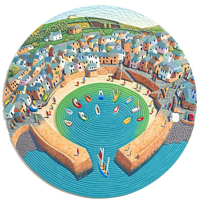 Mousehole Harbour by Seb West