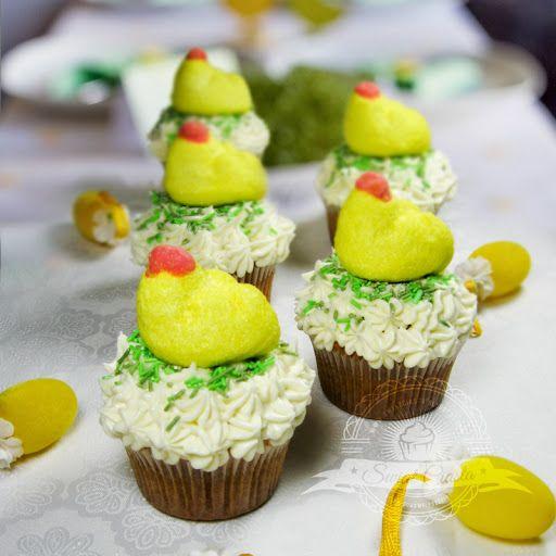 Wielkanocne babeczki waniliowe   Świat Ciasta
