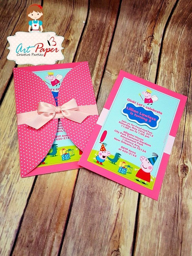 design birthday party invitations free%0A    Peppa Pig invitations personalized invitations by ArtPaperParty