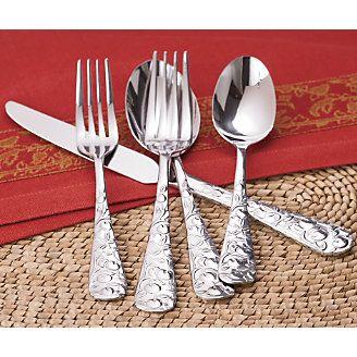 20 Piece Stainless Steel Apple Flatware Kitchen