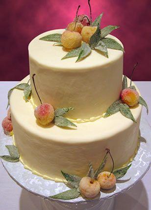 Sugared Fruit 2-Tier Cake |: Fruit Cake