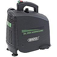 Draper 24973 1.1 Kilo Watt Oil-Free Air Compressor 230 Volt