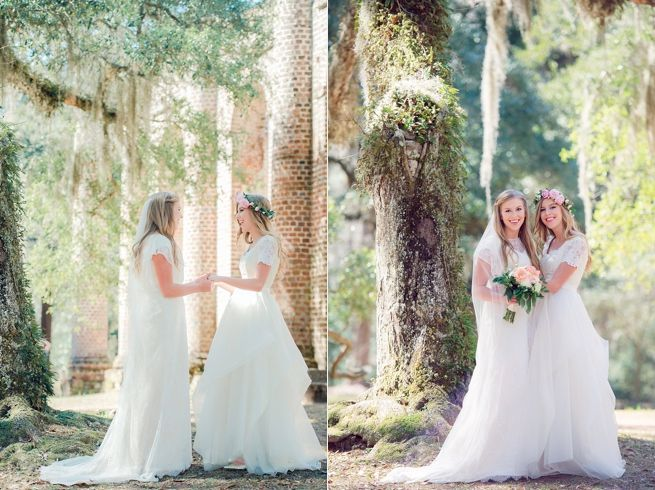 old sheldon church ruins bridal session