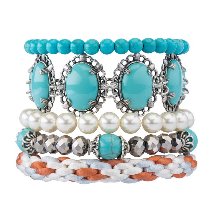 Turquoise beauty, 'Kiss and Tell' bracelet stack