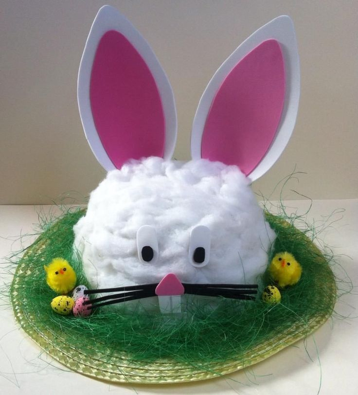 Handmade Bunny Rabbit Easter Bonnet Hat