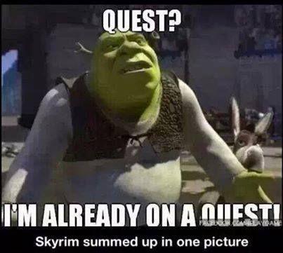 Skyrim in a nutshell.