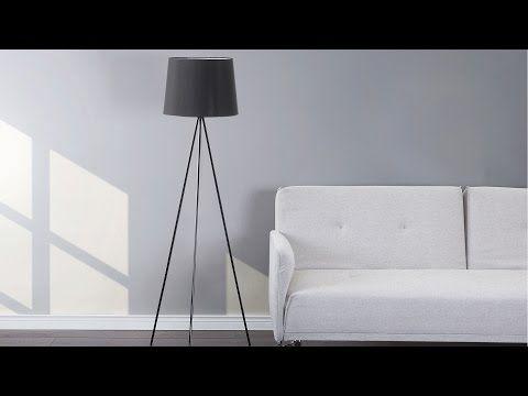 Lampa stojąca czarna - podłogowa - dekoracyjna - oświetlenie - SAMBRA