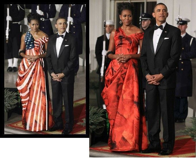 Yup ... the Flag Dress was a PhotoShop Phony (smh) -- She Still Looks Awesome Though.