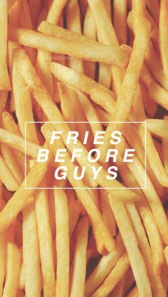 background, fries, guys, lock screen