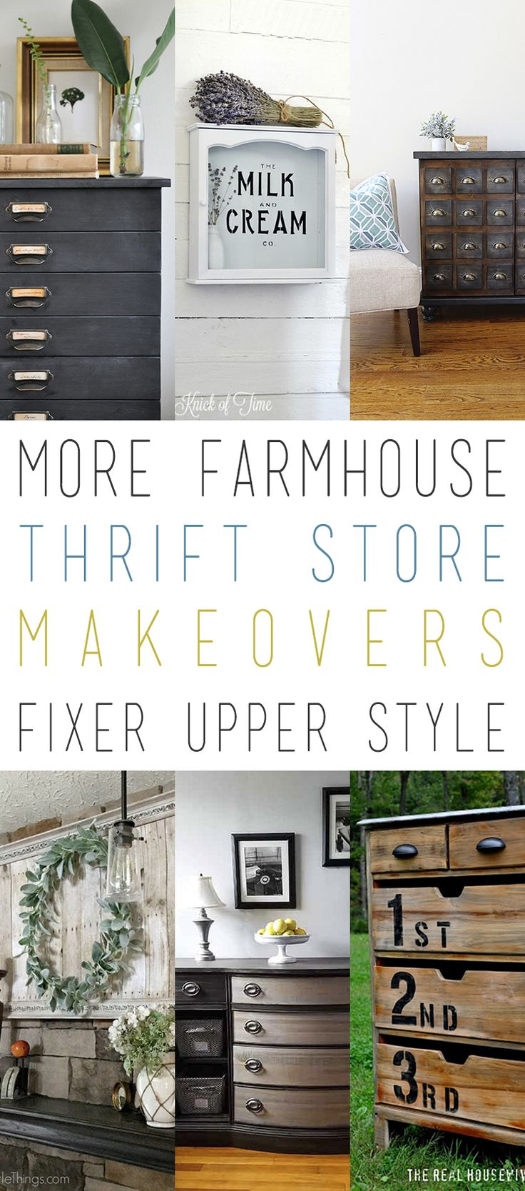More Farmhouse Thrift Store Makeovers Fixer Upper Style!