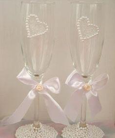 flutes ou verres decores