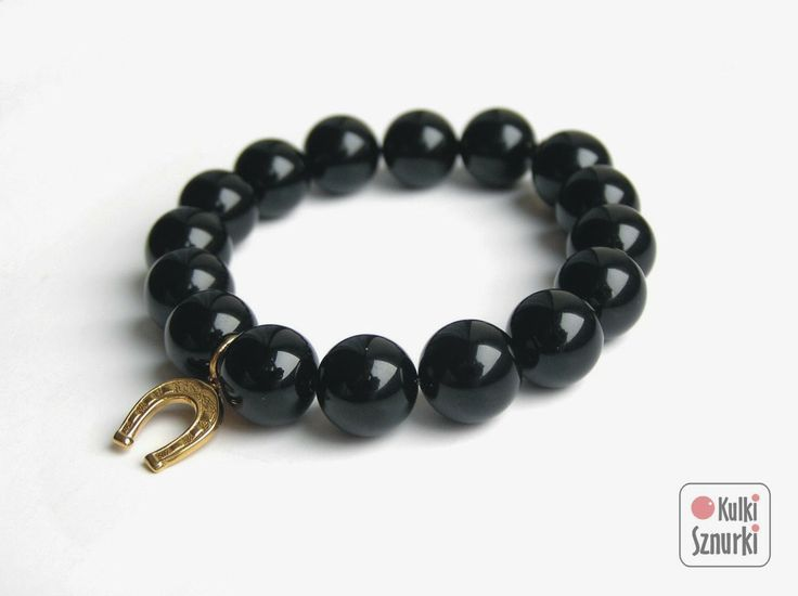 handmade bracelet   #onyx #kulkisznurki #stretchbracelets