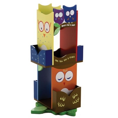 Owls Revolving Bookcase by Levels of Discovery $136