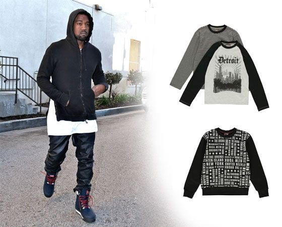 Celeb style icons are rocking the monochrome trend – whatever the season it never fails to make an impression. Here are tips and tricks on putting together looks for the boys. Kanye West in black & white.
