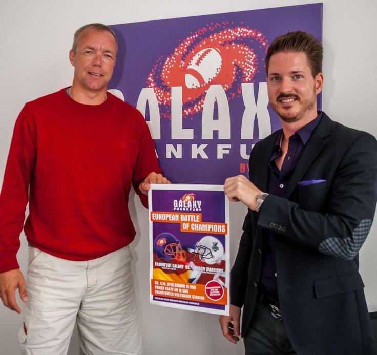 """Mit einer Riesenparty will die Frankfurt Galaxy am 4. Oktober den Aufstieg in die """"German Football League"""" (GFL) feiern. Um den Tag auch sportlich attraktiv zu gestalten, haben sich die """"Men in Purple"""" keinen Geringeren als die London Warriors eingeladen."""