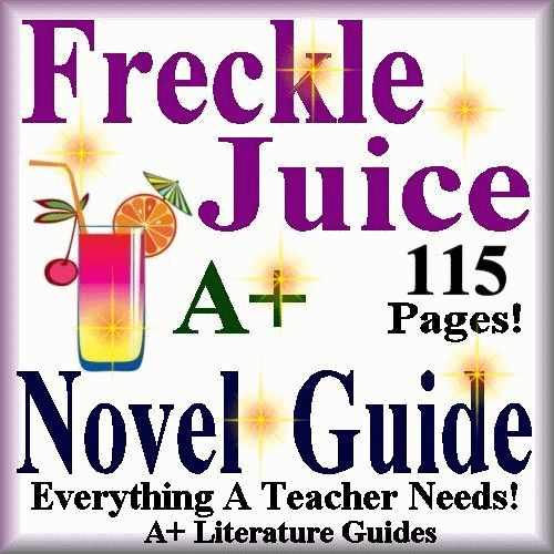 115 page Common-Core Aligned Novel Guide for Freckle Juice by Judy Blume. This guide has everything that you will need to teach and assess the novel. The calendar guide explains the skills and activities for the day, and the weekly quizzes and final test are Common Core aligned.
