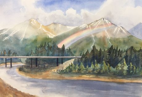 Check out Alaskan Summer by BeccaWard  | Original Art | https://www.vangoart.co/beccaward/alaskan-summer @VangoArt
