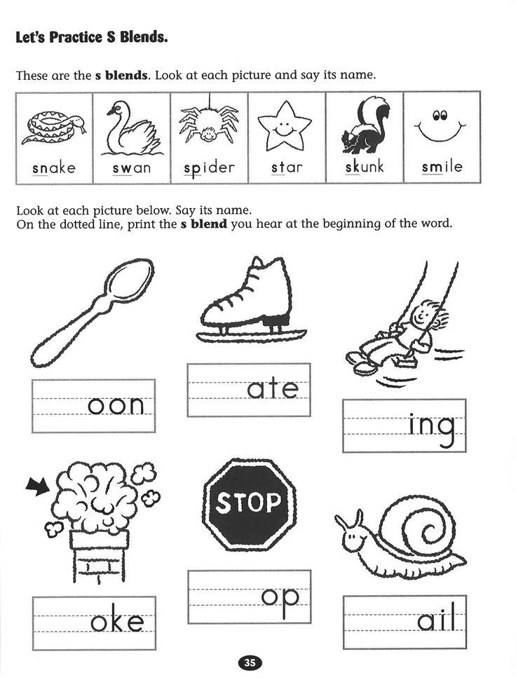 Let's Practice S Blends worksheet. Rockin' Reader