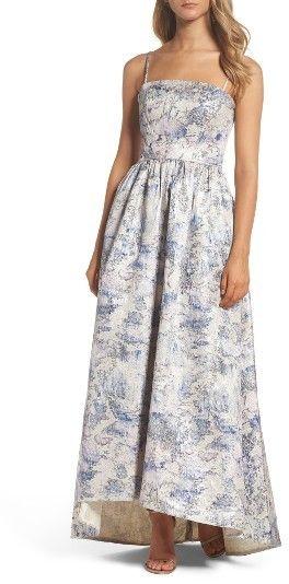 Women's Vera Wang Metallic High/low Ballgown- Black Tie Wedding Guest Dress Idea - Prom Dress Ideas