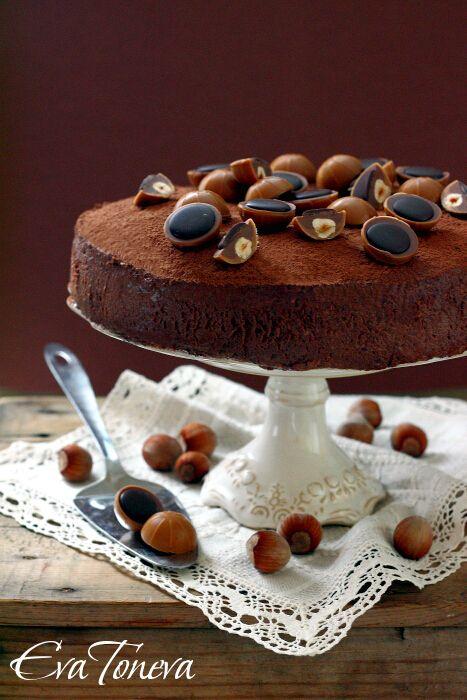 Toffifee truffle cake