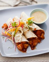 Food and Wine: Shrimp Tacos with Pickled-Red-Onion Salad! Making these this week!