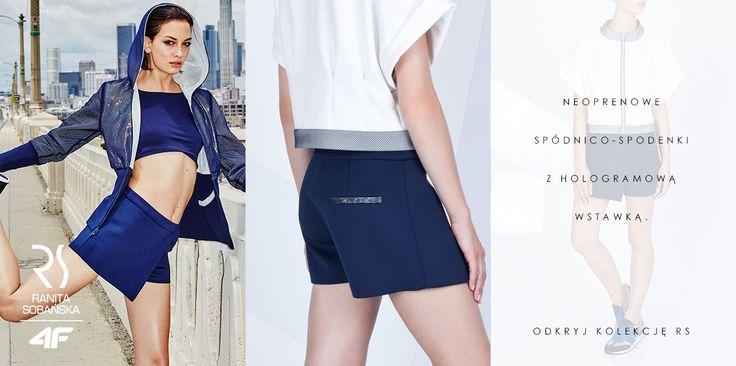 Modnych i zarazem wygodnych ubrań nigdy dość! Neoprenowe spódnico-spodenki RSx4F z hologramową wstawką będą świetną bazą wielu stylizacji. My już mamy kilka pomysłów, z czym będziemy je zestawiać. A Wy?  Kup online: http://bit.ly/1RowP36