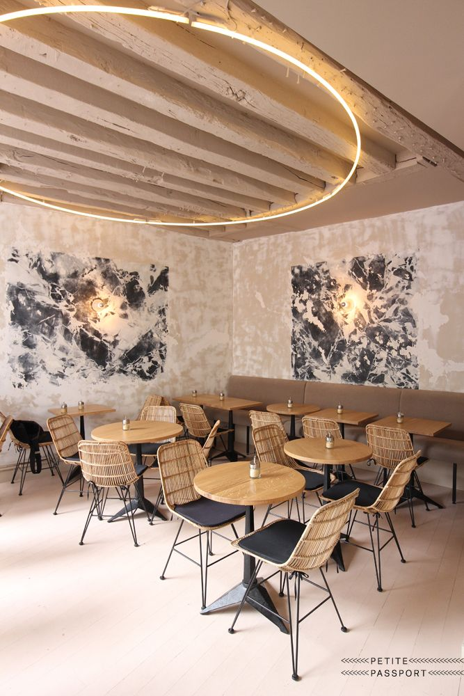 Restaurant Lighting Ideas | Unique lighting fixture in a mid century modern…