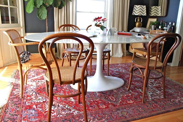 Thonet Chairs + Saarinen Table = heartsheartsheartsheartshearts
