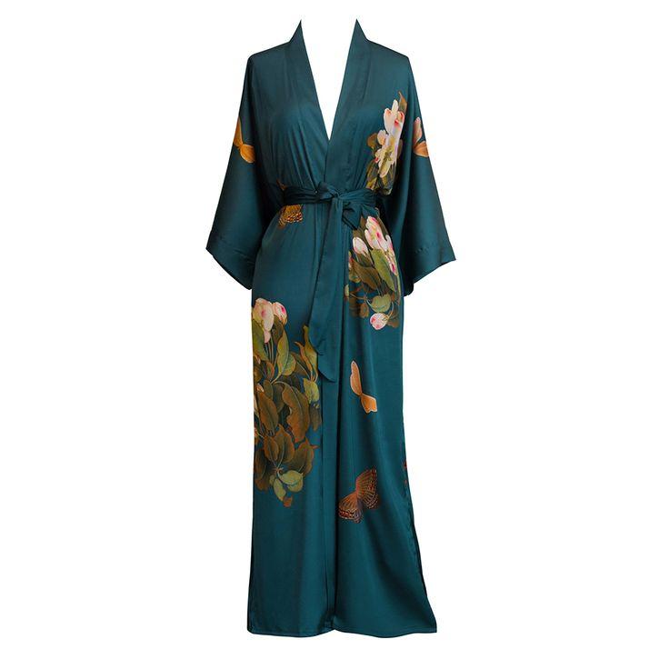 Peony & Butterfly Kimono Robe