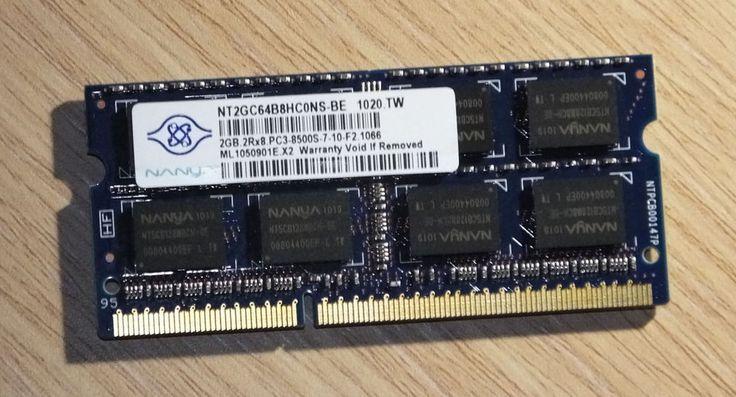 VENDO: 2GB(1x2GB) DDR3-1066MHz PC3-8500 Non-ECC Unbuffered 204 pin Laptop Memory(RAM)