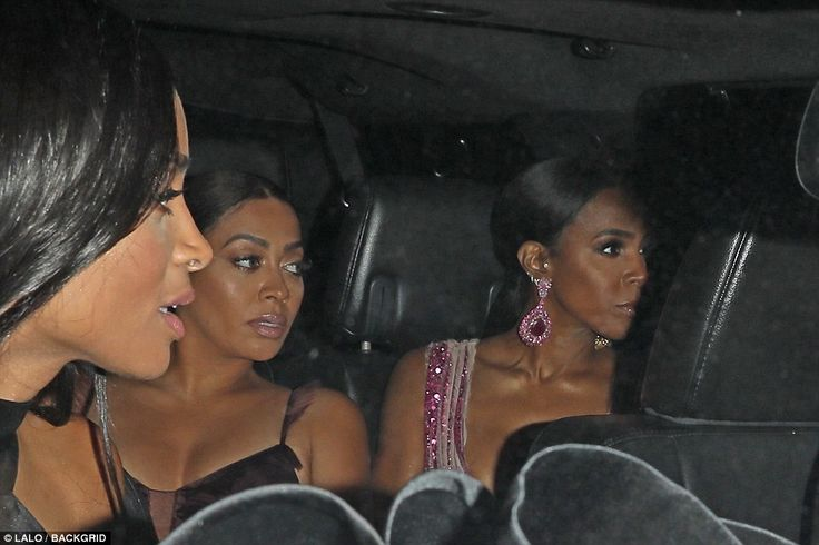 Ciara, La La Anthony andKelly Rowland arrived together at what must surely be the biggest wedding of the year