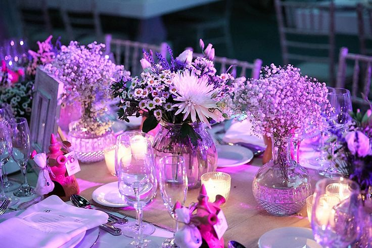 Another close up of the wedding table. Perfect romantic details!