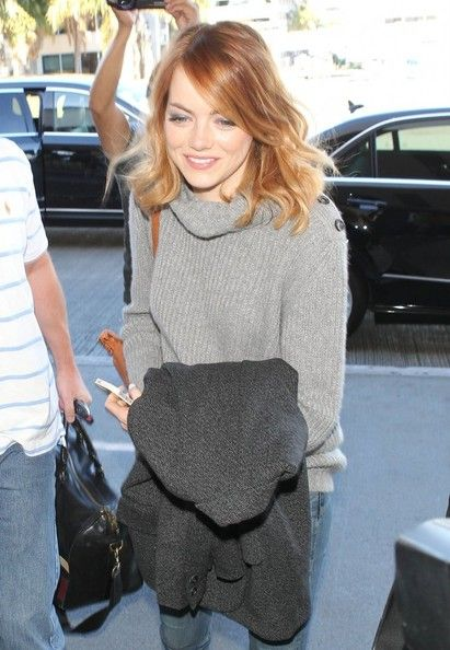 Emma stone light copper hair color