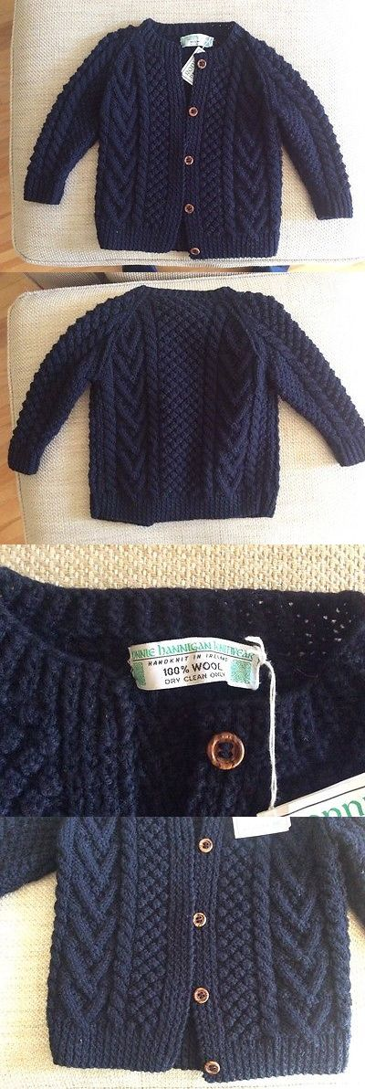 Sweaters 175657: Boy Girl Irish Sweater Ronnie Hannigan Aran Blue Cable Handknit Button 5 6 Small -> BUY IT NOW ONLY: $35 on eBay!