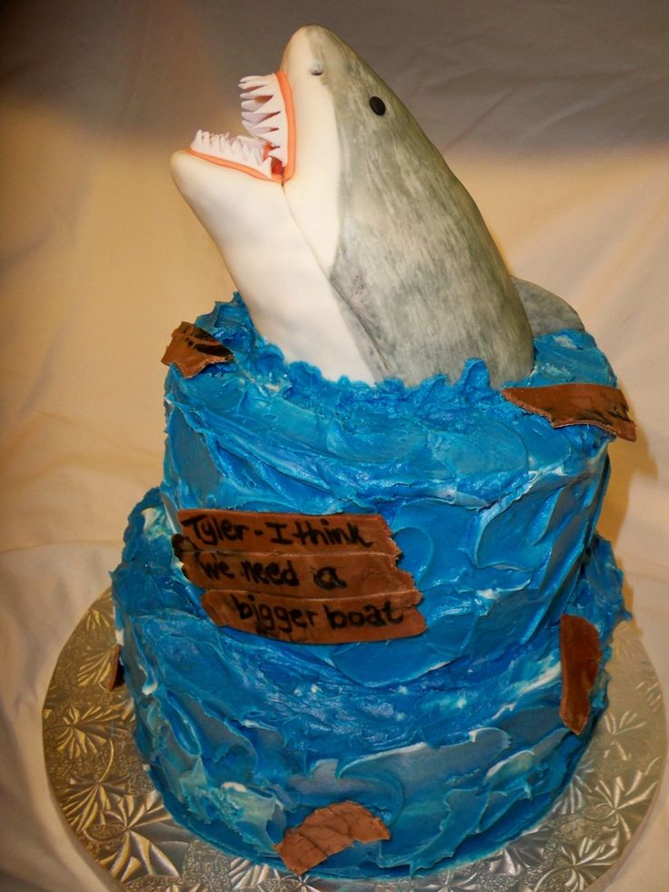 Shark Themed Cake