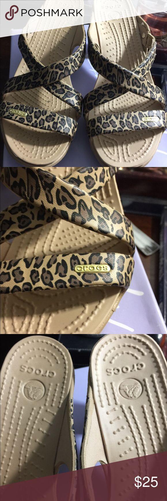 Crocs Cyprus Leopard heels size 8 Leopard heels, Crocs
