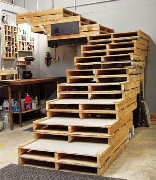 You can even make a set of stairs using around 22 different wood pallets