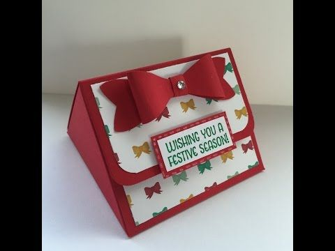 Easy triangular treat box with Stampin' Up! products - YouTube