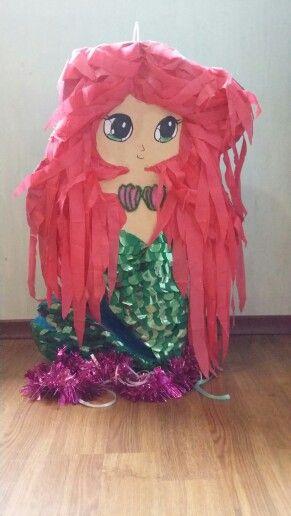 Pinata ariel mermaid | pinata | Mermaid pinata, Little ...