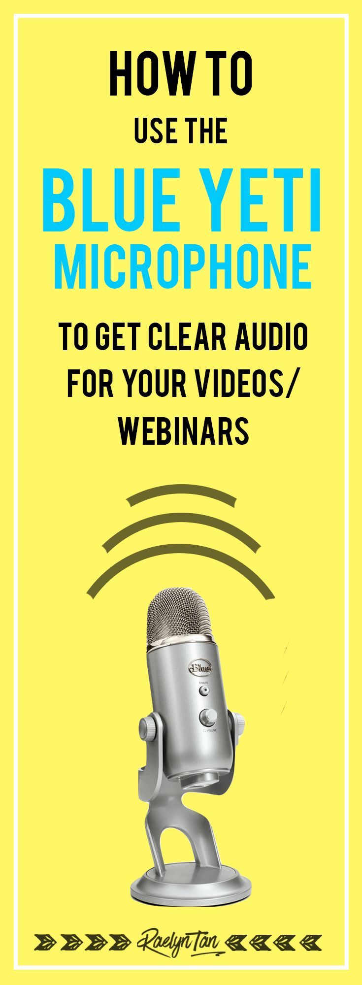 How to use the Blue Yeti Microphone to get clear audio for your videos and more. Comes in silver + black and plugs directly into your computer's USB port.