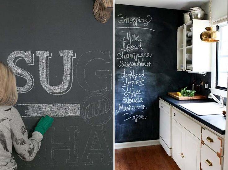 Idee per decorare le pareti - la vernice lavagna