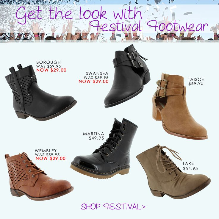 Get the Look with Festival Footwear