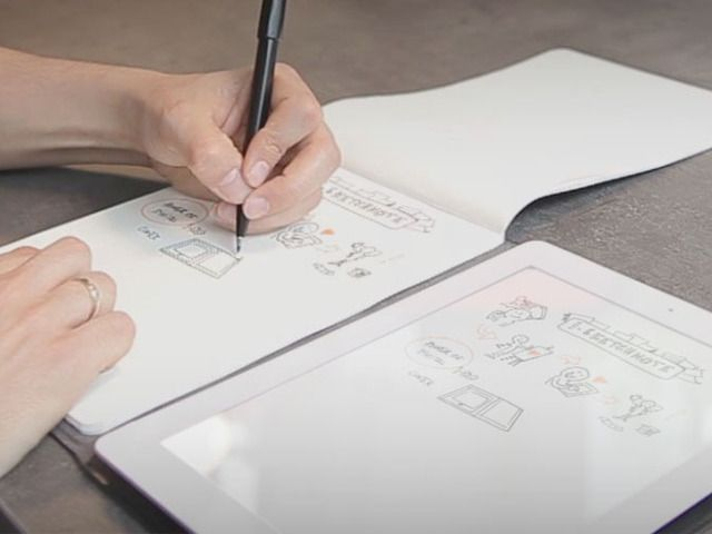 iSketchnote: from pen and paper to your iPad!.  iSketchnote is a smart iPad cover that integrates a new digitizing technology with the convenience of a notebook.