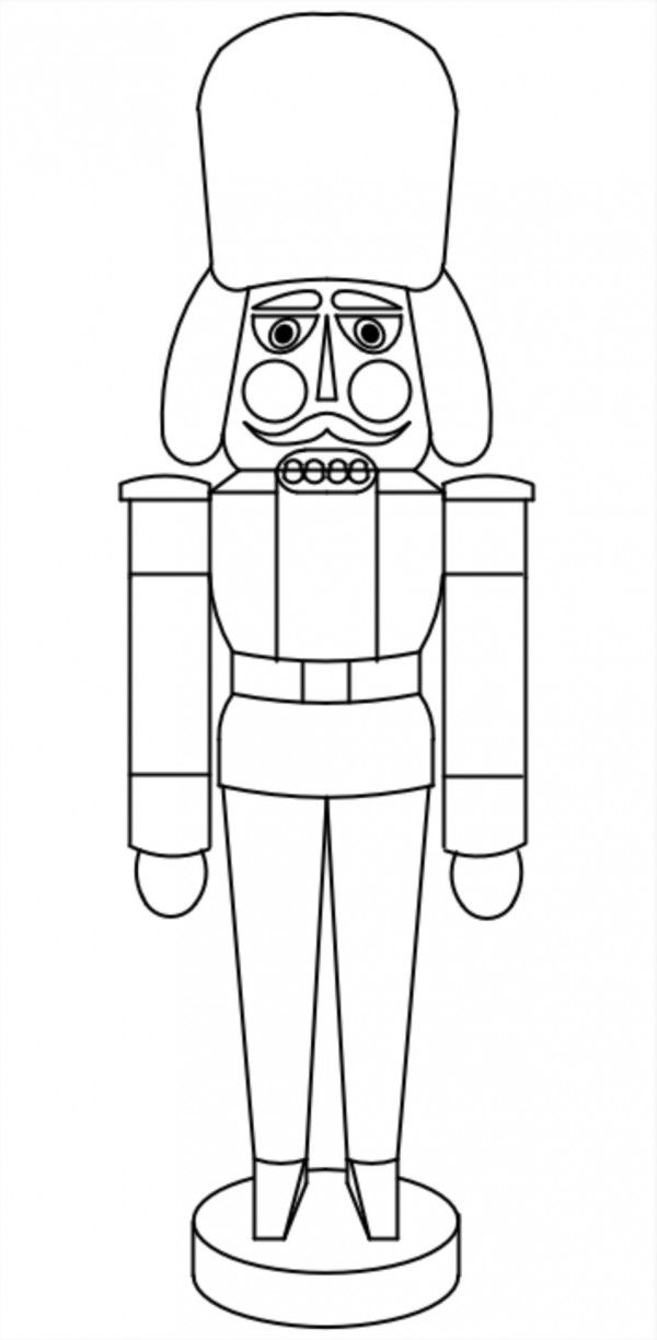 simple nutcracker coloring pages - photo#16