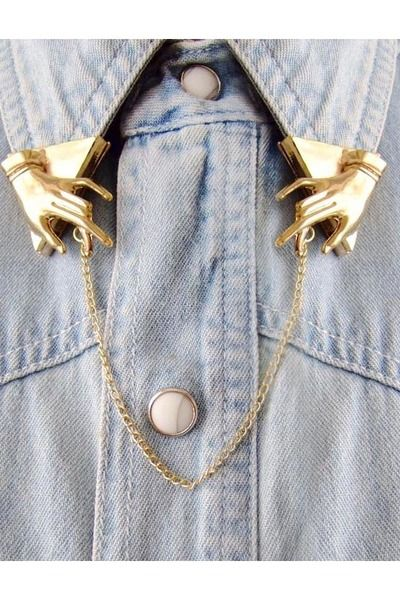 // collar tabs: Fashion, Vintage Styles, Shirts, Hands, Golden Metals, Jewelry, Collars Clips, Accessories, Styles Golden