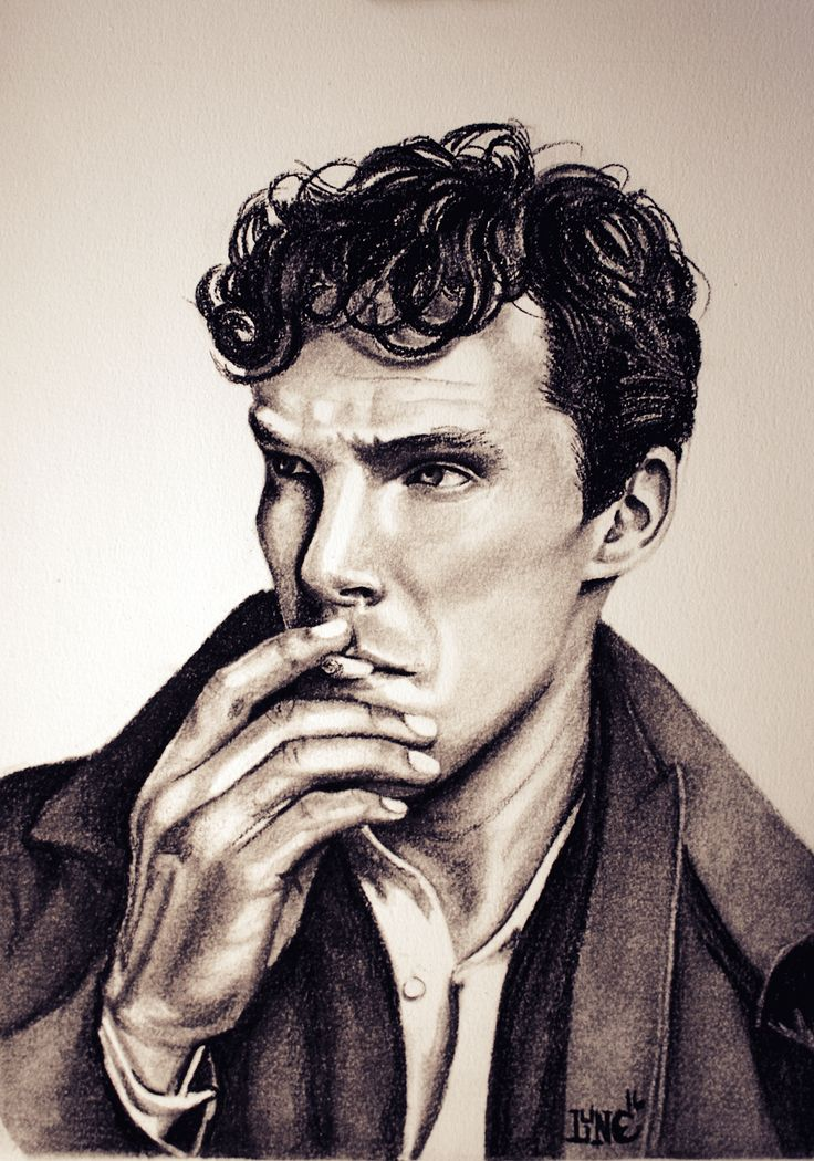 Benedict Cumberbatch, Black and White Conté Pastel on Canson Mixed Media paper (11 X 14)
