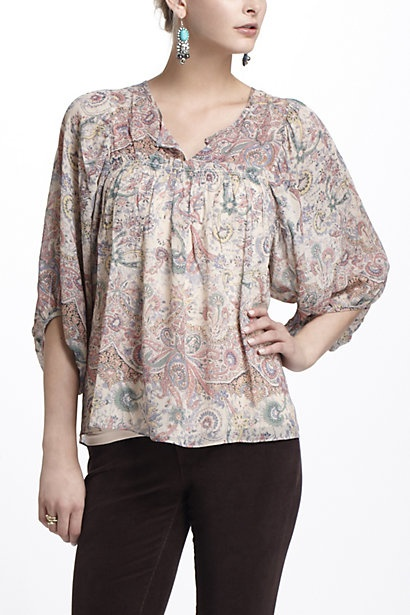 Miriam Embroidered Peasant Blouse 102